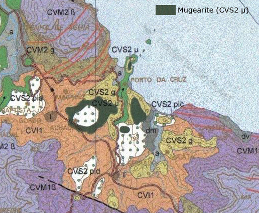 mugearite-geologic-map